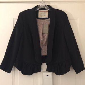 NWT Anthropologie Cartonnier black tuxedo jacket